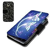 Book Style Strass Glitzer Flip Handy Tasche Case Schutz Hülle Schale Motiv Foto Etui für Samsung Galaxy S4 Mini i9190 / i9195 - Strass F6 Design12