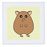 3dRose QS 6172_ 1Cute braun Hamster Quilt Platz,