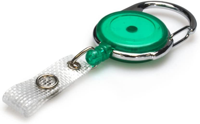 Badge Reel Matching ID Card Holder 25 Neck Strap Lanyard and Croc Clip in Green ID Card It ID Badge Holder Pack