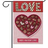 N/A Garten Flagge 12 x 18 Praline Sweet Heart Liebe Haus Hof Fahnen Willkommen Frühling Outdoor Indoor Für Hochzeit Zuhause Valentinstag