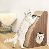 Cat Scratcher, Cat Toys Scratch Cardboards Scratching Pad Scratchy Box, Reversible Recycle 100% Corrugated Paper Bed Scratch Up, with Bonus Catnip, Wall-Shaped