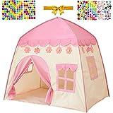 Kinderzelt Prinzessin Schloss Spielzelt Kinderspielzelt für Mädchen - Spielhaus für Innen und...