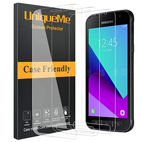 UniqueMe [3 Pack] Schutzfolie für Samsung Galaxy Xcover 4S / Xcover 4, Samsung Galaxy Xcover 4S Panzerglas HD Japan gehärtetes Glas [3D Touch] [Anti-Bubbles]