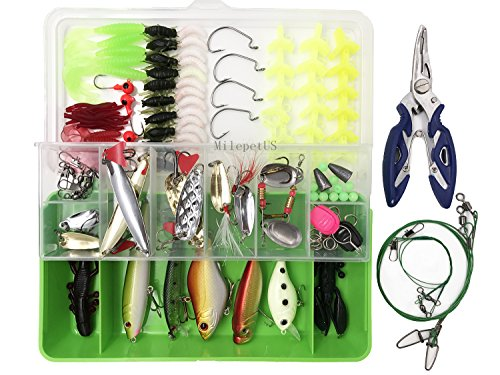 123PCS pesca dura esche morbide kit set da pesca Tackle...