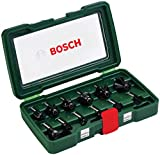 Bosch 2607019466 - Set con 12 fresas con inserción de 8 mm