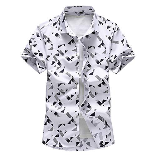 POachers Hommes Été Nouveau Mode Affaires Loisir Plage À Manches Courte Grande Taille Impression Chemise, T-Shirt élastique Formel pour Hommes