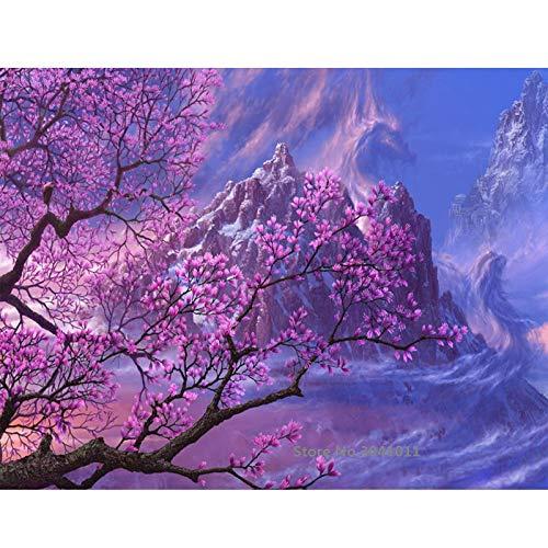 baodanla No Frame Bizarres Landschaftsöl von digital Canvas für Hochzeitsdekoration Wohnkultur50x70cm