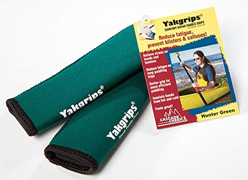 Yakgrips Takeapart Kayak Paddle Grips, No-Slip, Prevents Blisters (Green) - Cascade Creek