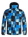 Quiksilver para Hombre de Nieve Chaqueta Mission Print, otoño/Invierno, Hombre, Color Azul - Check Kasper Snow Dark Denim, tamaño L