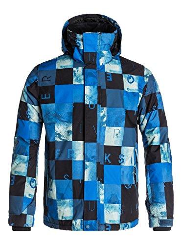 Quiksilver Herren Schnee Jacke Mission Print, Check Kasper Snow Dark Denim, L