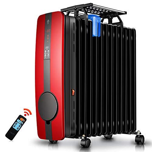 Radiator 2500 W met Air Choice oververhittingsbeveiliging thermostaat veiligheidsuitschakeling tranquillo radiant olie heater Rood