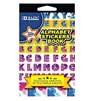 BAZIC Alphabet Sticker Book Case of 24 (3872-24) [並行輸入品]