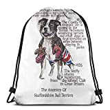 Not Applicable Staffordshire Bull Terrier History Drawstring Bags Gym Bag Sports Backpack Sackpack