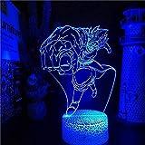 MHLYY 3D Lámpara de techo LED de luz LED para lámpara de techo de cristal de acrílico y tacto
