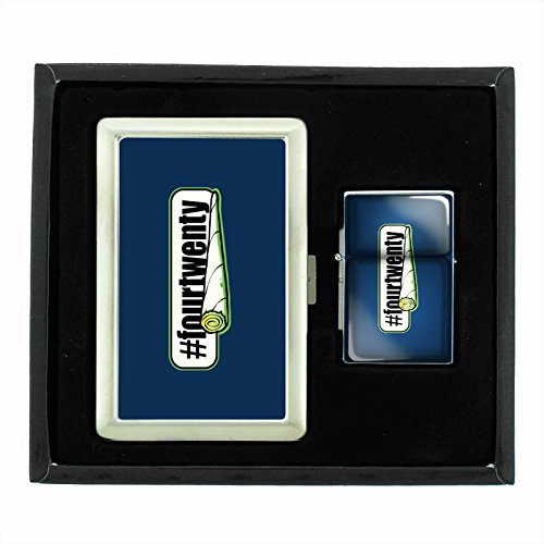 Find Discount Four Twenty Smoke Cigarette Case and Flip Top Oil Lighter Set