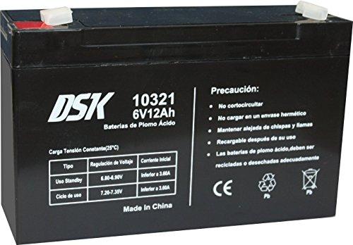 DSK 10321 - Batería Recargable de Plomo Ácido de 6V y 12Ah...