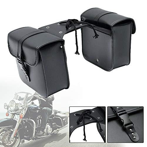 SDGDFXCHN Motorrad-Satteltasche, wasserdichte PU-Leder-Packtaschen-Aufbewahrungstasche Schwere Werkzeugtasche