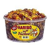 Haribo Freche Füchse, Fruchtgummi mit Limo und Cola-Geschmack, Gummibärchen, Weingummi, 150 Stück, 1200 g Dose