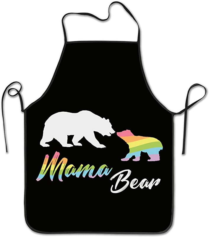 Hssa Unisex Kitchen Aprons Mama Bear Chef Apron Cooking Apron Barbecue Aprons