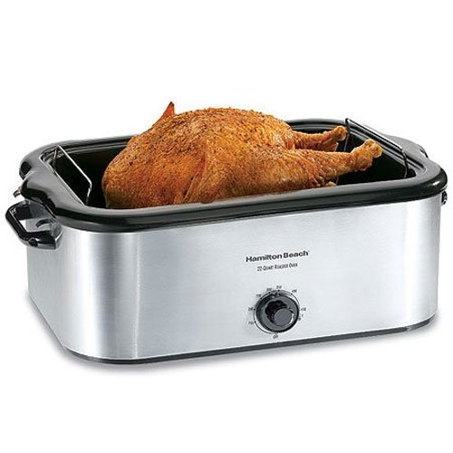Hamilton Beach 32229 22-Quart Roaster Oven, Stainless Steel...