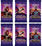 6 Paquetes de Refuerzo de Magic: The Gathering- Throne of Eldraine (6 Unidades – ELD Booster Draft Lot)