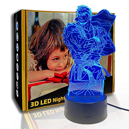 KangYD 3D Nachtlicht Dragon Ball Karate Master, LED Illusionslampe, B - Remote Black Base (7 Farben), Kinderlampe, Office Decor Lampe, Stimmungslampe, Kreatives Licht