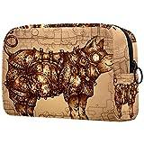 Bolsa de maquillaje bolsa de viaje para mujeres y niñas grandes organizadores de maquillaje lindo impermeable casos de viaje portátil aseo steampunk cerdo