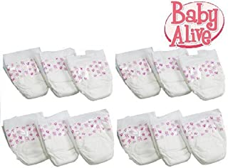 Hasbro Baby Alive Diapers Double Pack (12 Diapers)