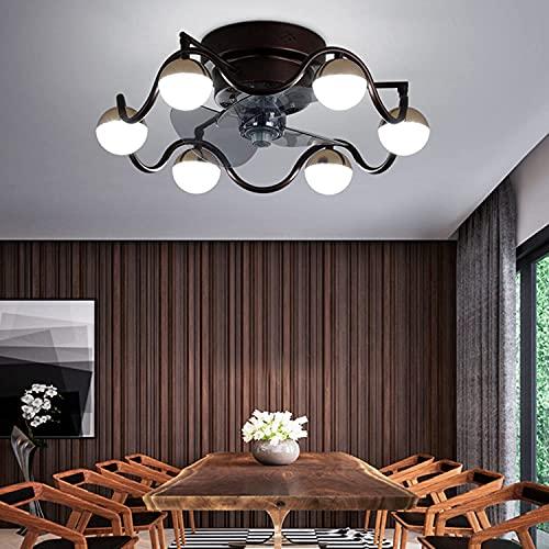 LED Techo ventilador ventilador de techo luz ajustable ventilador lámpara de techo luz de techo luz con iluminación moderna dormitorio 72w dimmable sala de estar luz con control remoto ventilador tran