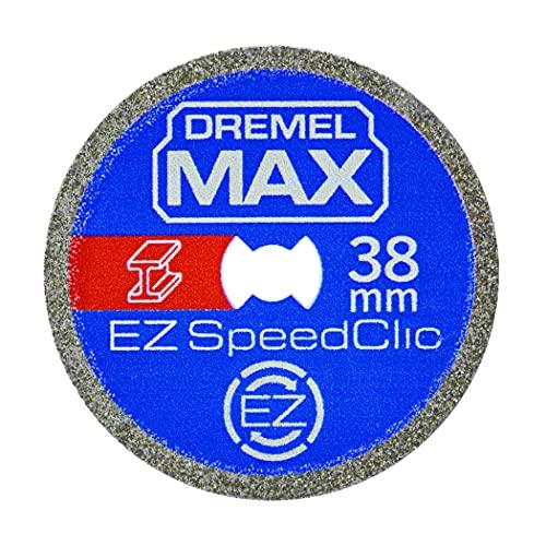 Dremel MAX Disco de corte de alto rendimiento (SC456DM) Disco de corte de metal con sistema EZ SpeedClic, 38mm, máxima duración de la vida útil