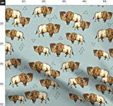 Büffel, Bison, Kanada, Ranch, Kuh Stoffe - Individuell