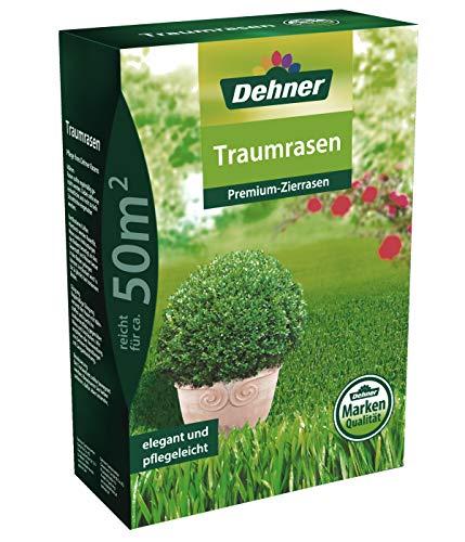 Dehner Rasen-Saatgut Traumrasen, Premium-Zierrasen, 1.25 kg, für ca. 50 qm