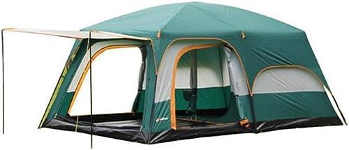 GFF LA6 Tente surdimensionnée Camping en Plein air Tente de Plage Plage 8-12 Personnes imperméable à l'eau crème Solaire équipe Tente