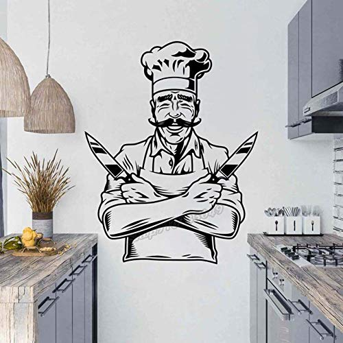 Blrpbc Pegatinas de Pared Adhesivos Pared Cocina Sala de Cocina El corazón del hogar Decoración de la Cocina Vinilo Cocina Cocina Decoración de la Cocina 84x66cm