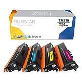Run Star Compatible Toner Cartridge Replacement for Brother TN336 TN331 TN315 TN310 Used for Brother MFC-L8850CDW MFC-9970CDW HL-4150CDN HL-L8350CDW HL-L8350CDWT Printer, 4 Packs