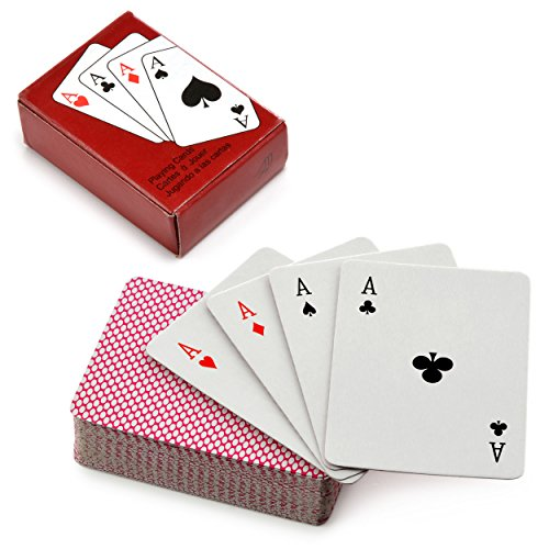 Ganzoo 2er Set Mini Pokerkarten Deck, Kartenset, Poker, Poker Spielkarten, playing cards Marke