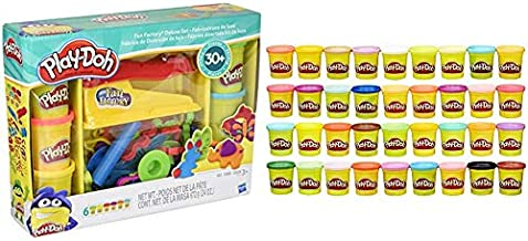 Play-Doh Fun Factory Deluxe Set & Modeling Compound 36-Pack Case of Colors, Non-Toxic, Assorted Colors, 3-Ounce Cans (Amazon Exclusive)