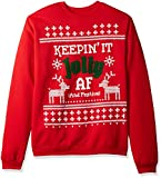 Hanes Men's Ugly Christmas Sweatshirt, Best Red/Jolly...
