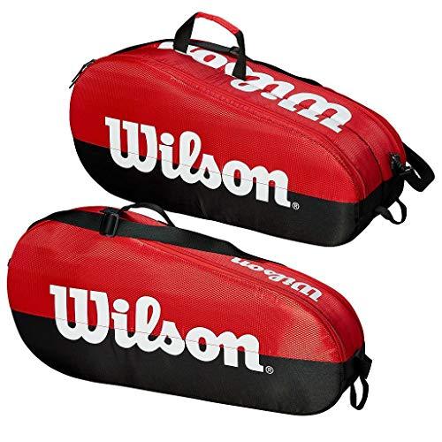 Wilson Team 1 Compartment Tennis Bag, Black/Red