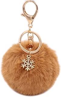 8cm, Brown RainBabe Porte-cl/és Boule avec Poup/ée D/écoration pour Voiture//Porte//T/él/éphone//Sac Pendentif pour Femme Fille en Peluche 8CM