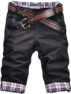 Onsoyours Homme Shorts Cargo Pantacourt Coton Multi Poches Loisirs 3/4 Short Slim Fit Casual Bermuda Chino Pantalon Court Eté