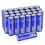 *EBL Piles *AA Alcalines 10 Anys Llarga Durada Alt Rendiment Piles Normals D'un sol ús per a Joguines Bàscula Rellotge (28 Unitats de 1,5 V)