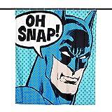 Elbenwald Batman Duschvorhang Oh Snap! Wand Banner 180x200cm DC Comics blau