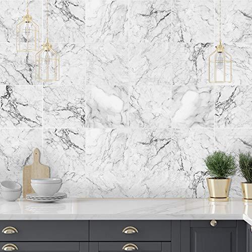 LUOWAN Pegatinas para azulejos de pared de 15 x 15 cm, autoadhesivas, para decoración del hogar, para decoración de azulejos y azulejos