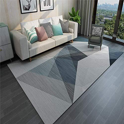 Zhao Li vloerbedekking gebied tapijten Anti-slip Indoor Vloer Matten groot formaat Moderne Woonkamer Slaapkamer Grijze blauwe geometrie patroon Tapijten