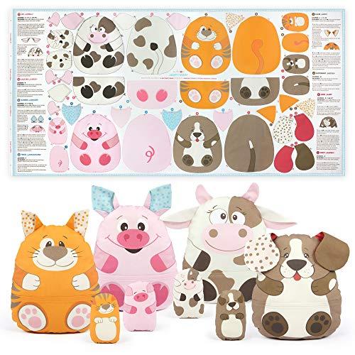 """kullaloo, tessuto """"Cut & Sew"""" per bambini, come pannello su popeline/cotone da cucire per principianti, certificato Öko-Tex 100"""