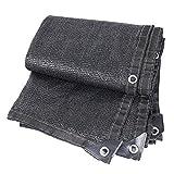WZF Manivelas para toldos con Aislamiento Solar con Pantalla de Engrosamiento para cifrado Negro Sombreado para automóviles Invernadero para Flores (Color: Negro Dimensiones: 4 × 10 M)