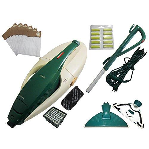 Vorwerk Kobold VK 131Razón dispositivo Motor + Ventosa Canal + Filtro láser Incluye nuevo filtro (microfiltro y filtro de olores) + 6vles Bolsa + Mango + Cable + Reversible Boquilla