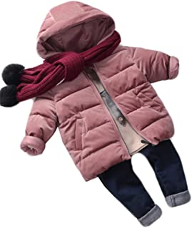 (グードコ) 男の子 綿入りジャケット ダウンジャケット フード付き ベロア一 男女兼用 女の子 キッズ ジャンパー コート クリスマス お嬢様 かわいい