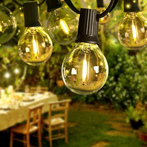 BACKTURE Catena Luminosa LED, 6,8m Catena Luci Stringa Impermeabile con 16 G40 Led Lampadina e 2 di Ricambio, Luci da Esterno e Interno per Natale, Festa, Giardino, Matrimonio